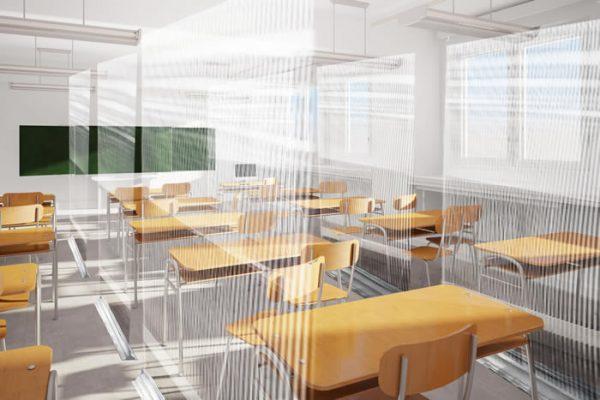 Mamparas separadoras para aulas de colegios, mamparas para institutos y centros educativos grupo zona