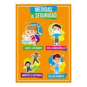 Carteles medidas de seguridad Escuelas y colegios Grupo Zona