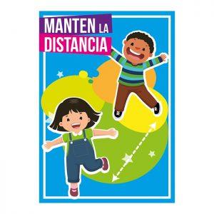 Carteles distancia de seguridad Escuelas y colegios Grupo Zona