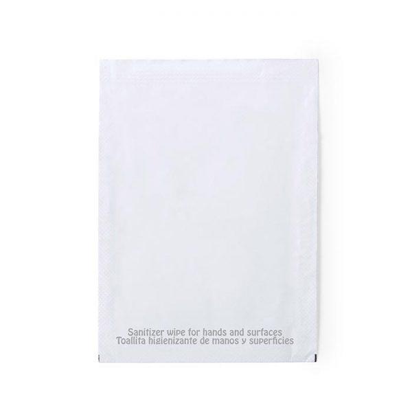 Toallitas de limpieza higienizantes con logo personalizadas grupo zona