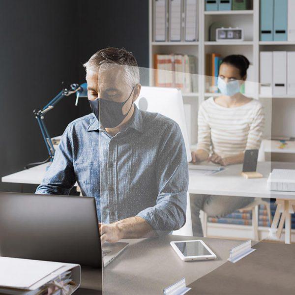 mampara separadora low cost para oficinas