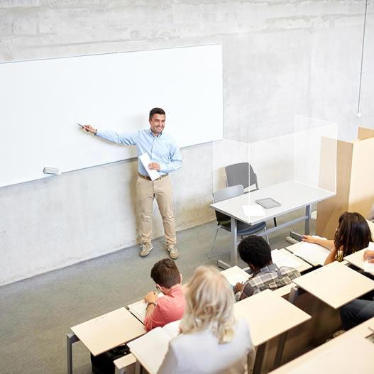 mamparas colegios mesa profesor
