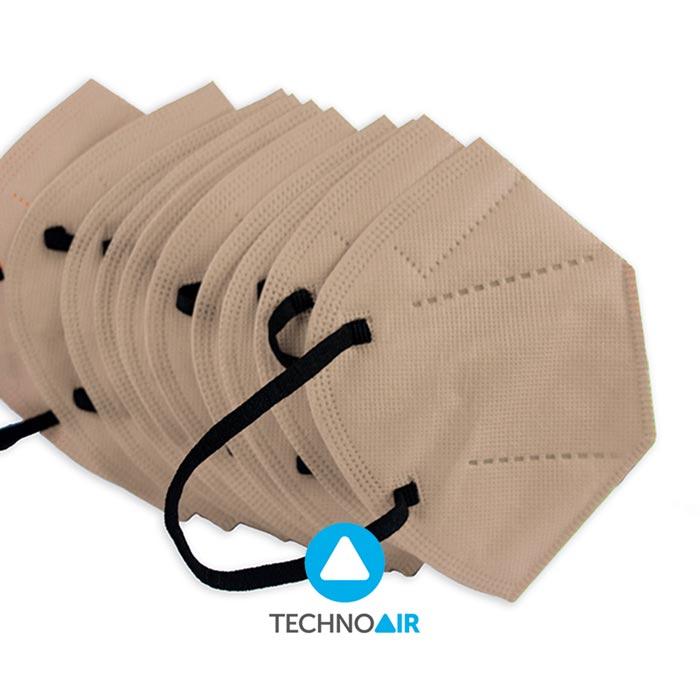 Mascarillas TechnoAir reutilizables color beige cantidad options Grupo Zona