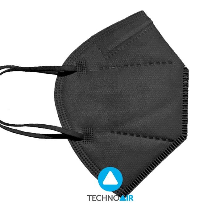 Mascarillas TechnoAir reutilizables color negro Grupo Zona