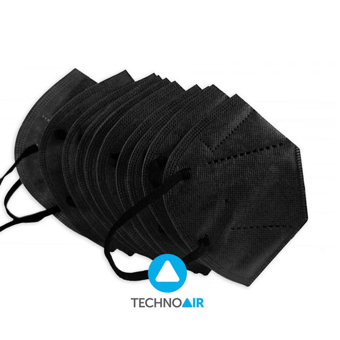 Mascarillas TechnoAir reutilizables color negro cantidad options Grupo Zona