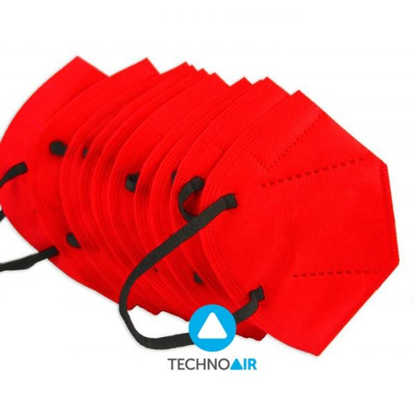 Mascarillas TechnoAir reutilizables color rojo cantidad options Grupo Zona